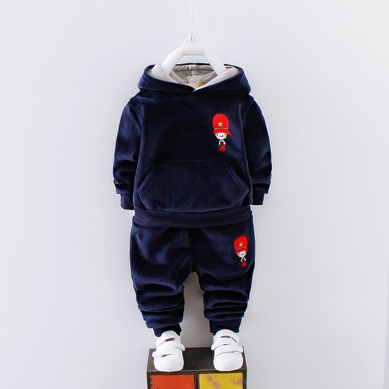 Varejo Roupas Infantis Hoodies Inferior Set Conjuntos de Roupas de Bebê Menino Meninos Roupas de Outono