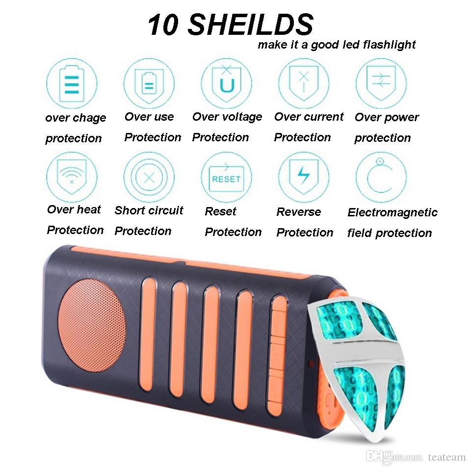 portable lighting suppr bright torch led flashlight Multi-function with power bank and bluetooth speaker rechargeable flashlights
