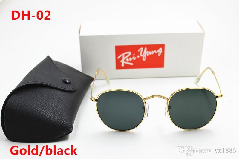 4420fcadc9848 High Quality Fashion Round Sunglasses Mens Womens Designer Brand Sun ...