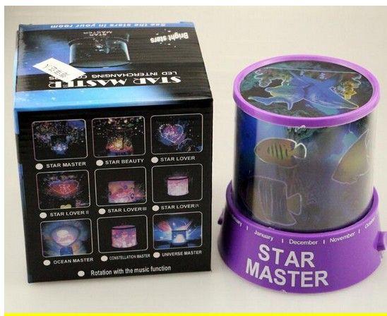 Yıldız projektör lambası dönen müzik LED yıldız Irak projektör renkli gece lambası uyku lambası yaratıcı hediyeler