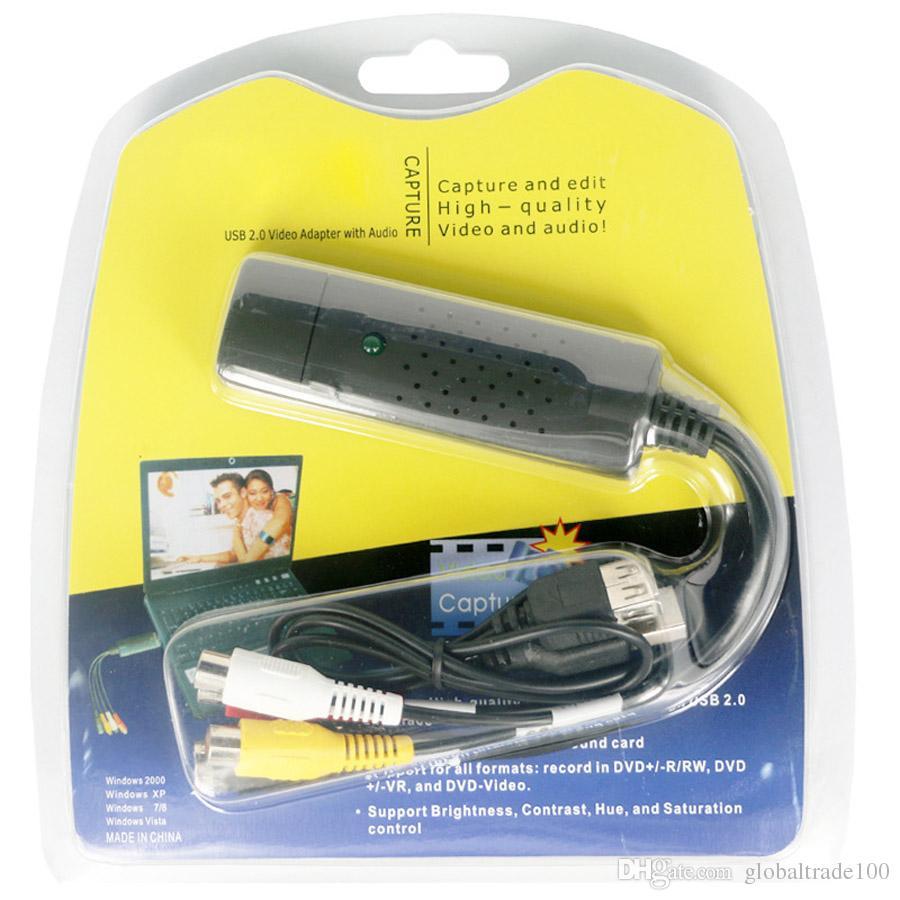 USB 2.0 Video Adapter With Audio Capture Card VHS DC60 UTV007 DVD Converter Composite RCA for Computer TV Camera