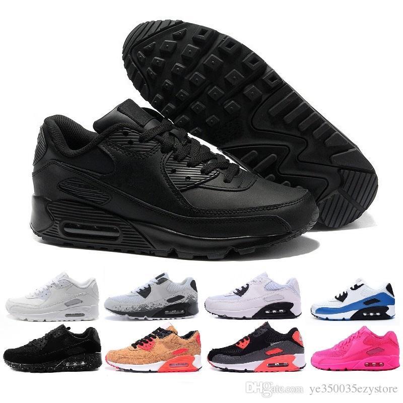 buy online 23727 c433b Acquista Nike Air Max 90 Mens Sneakers Scarpe Classiche Da Uomo E Da Donna  Scarpe Casual Nero Rosso Bianco Trainer Cuscino Scarpe Traspiranti  Superficie 40 ...
