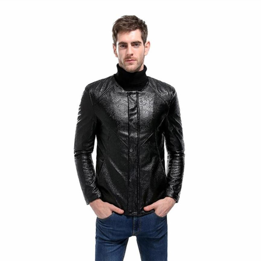 2018 Mens Quilted Pattern Faux Leather Moto Jacket Coat From Tuhua