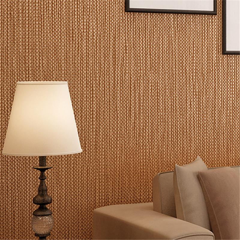 Beibehang Simple Dark Coffee Non Woven Wallpaper For Living Room
