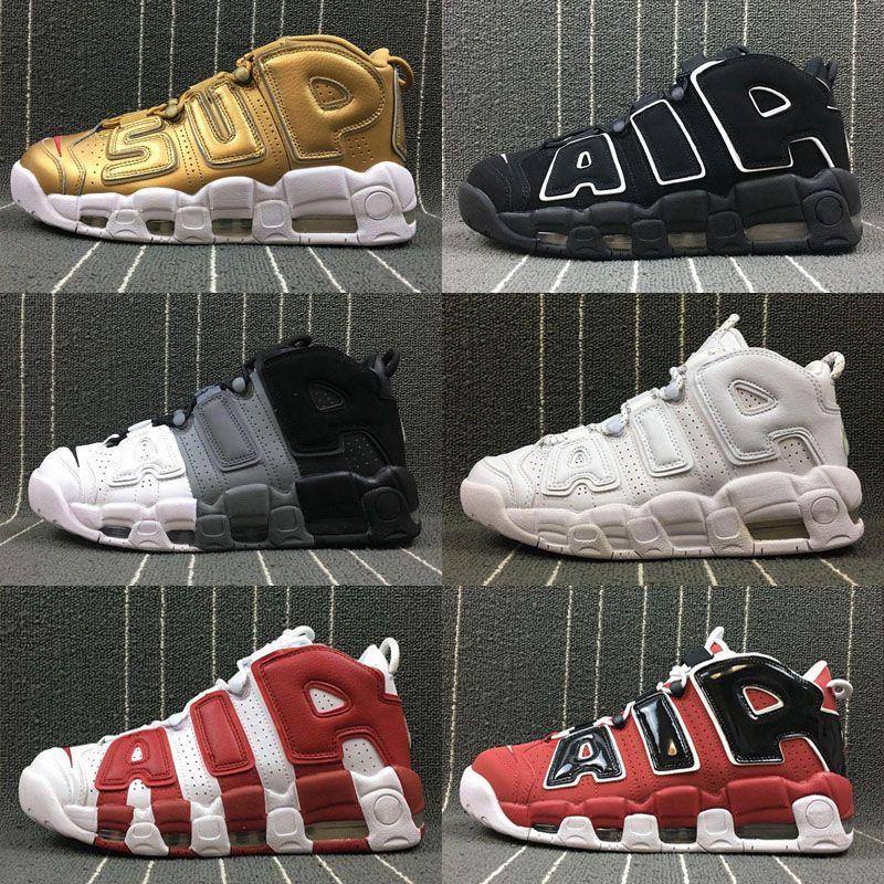 37ebc2e2041 2018 Air More Uptempo Women Mens Basketball Shoes