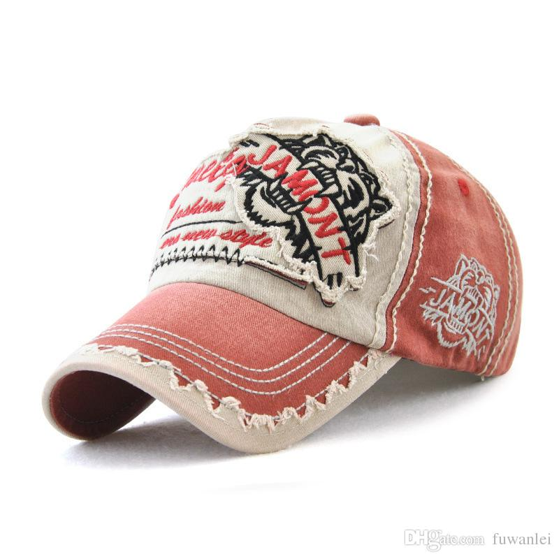 1db67b98f8d Washed Denim Hats Men Spring Bone Embroidery Baseball Caps Women Snapback  Cap Men S Sun Hip Hop Hats Casquette Baby Caps 47 Brand Hats From Fuwanlei