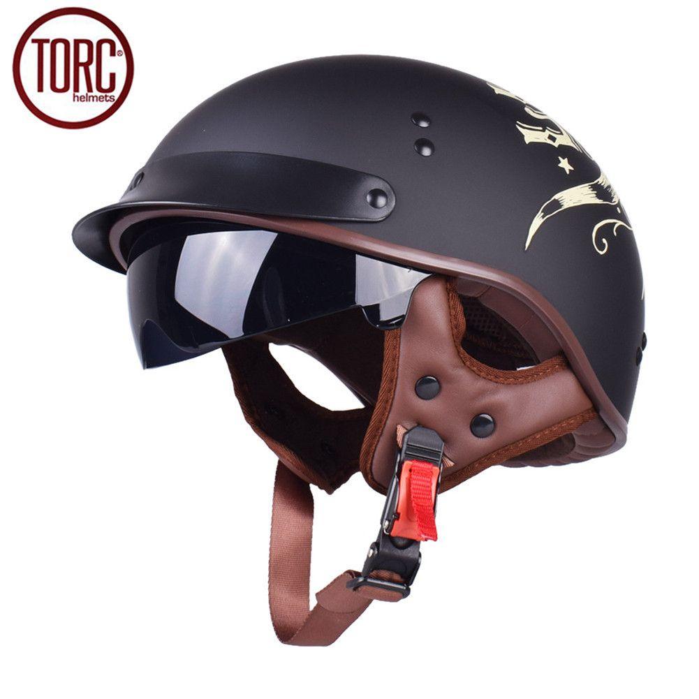 Dot Cruiser Men S Motorcycle Helmet Harley Open Face Half Vintage