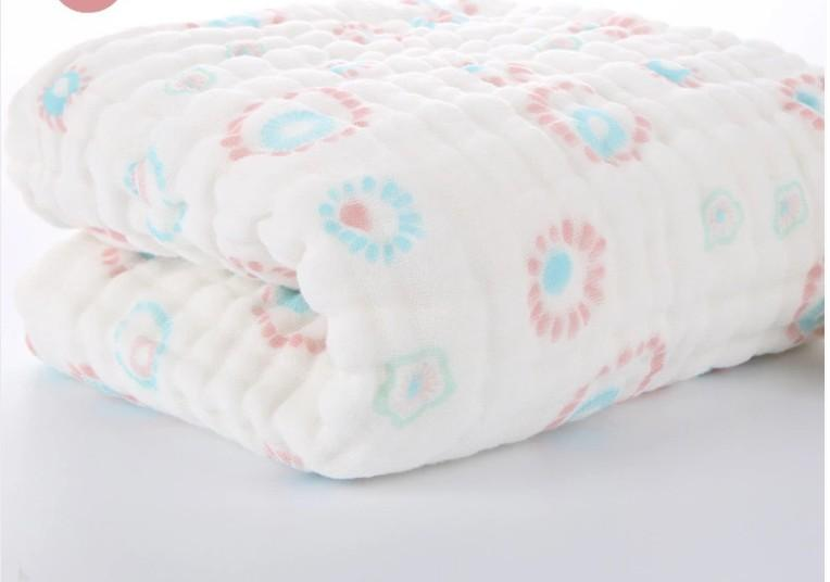 105*105cm Baby Cotton Bath Towel Soft Breathable Blanket For Baby Muslin Cotton Gauze Scarf Newborn Baby Towels