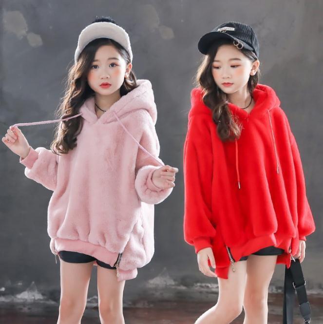 0338676a1 Girls Hoodies Winter Sweatshirts For Big Girls Rabbit Children s Top ...