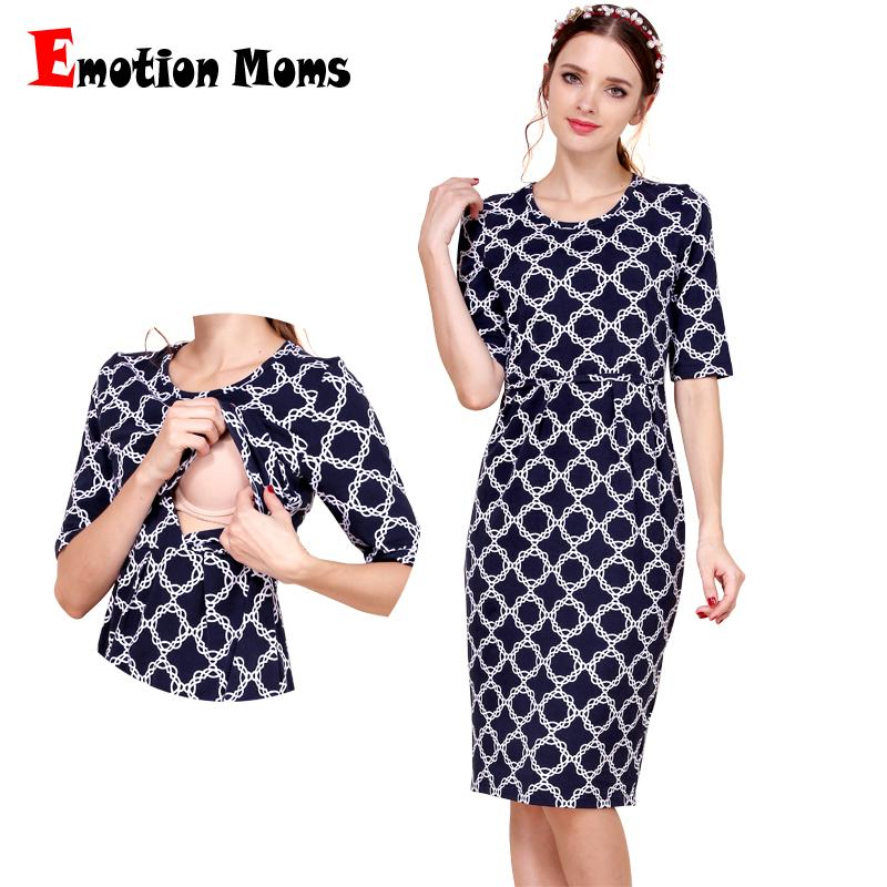 e7866de43 Compre Emoción Moms New Coon Maternity Clothes Party Vestidos De Maternidad  Ropa De Lactancia Para Mujeres Embarazadas Summer Nursing Dress A  40.81  Del ...