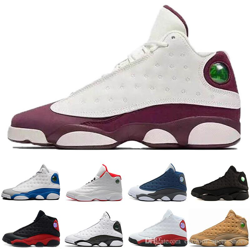 22953ea4e2f 2019 High Quality New Mens 13 Black Cat GS Hyper Basketball Shoes 13s White  Women Chicago Red XIII Trainer Sneakers Size 8.0 13 From  Outdoor_sport_shoes, ...