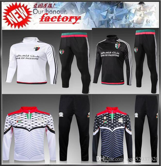 9909c2aac0d2f 2016 2017 Palestino Soccer Tracksuits Kits Palestine Football Survetement  Chandal Top Quality 16 17 Palestine Football Training Suit Palestino  Palestino ...