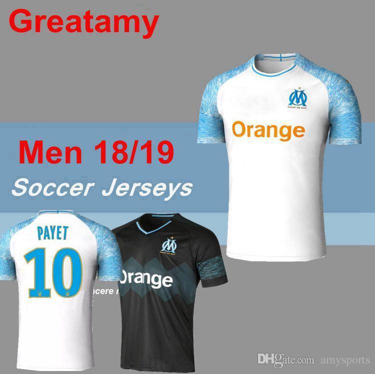 d5ed85209a5 18 19 Top Thai Olympique De Marseille Soccer Jersey Home PAYET ...
