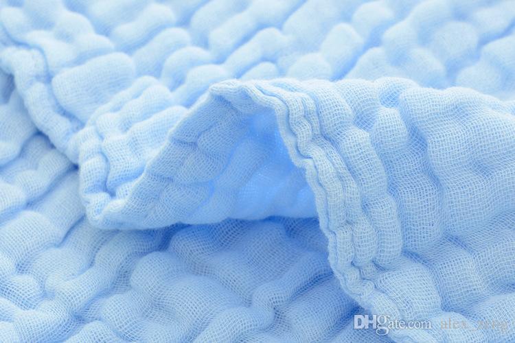 Newborn 100% Cotton Hold Wraps Infant Muslin Blankets Baby 6 Layers Gauze Bath Towel Swaddle Receiving Blankets 105cm*105cm