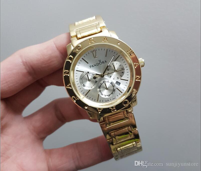2018 Célèbre marque M montre-bracelet Japon Or Mouvement M Classique Métal Montre + Cadeau disponible femmes or en acier inoxydable marque de mode montre