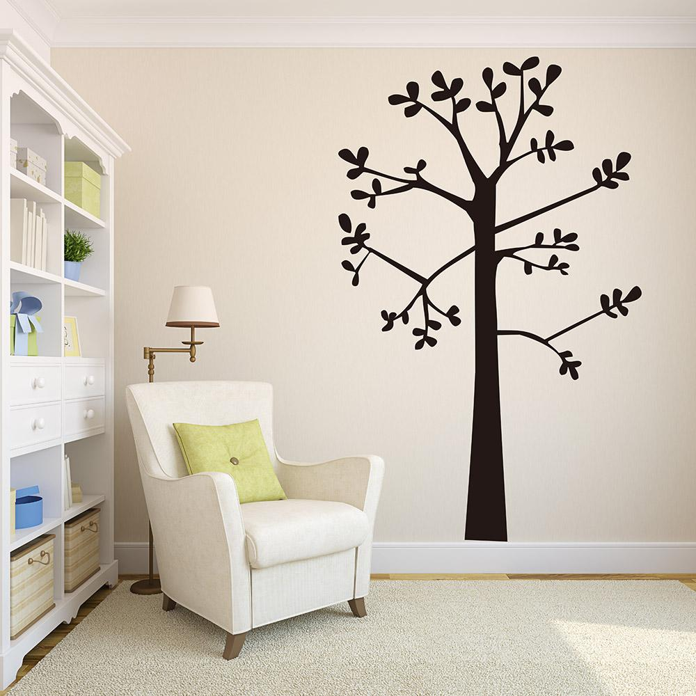 86a8999347 Large Tree Wall Sticker Nursery Kids Room Forest Landscape Pastoral Tree  Branch Leaves Wall Decal Bedroom Living Room Vinyl Wallpaper Decal  Wallpaper Decals ...