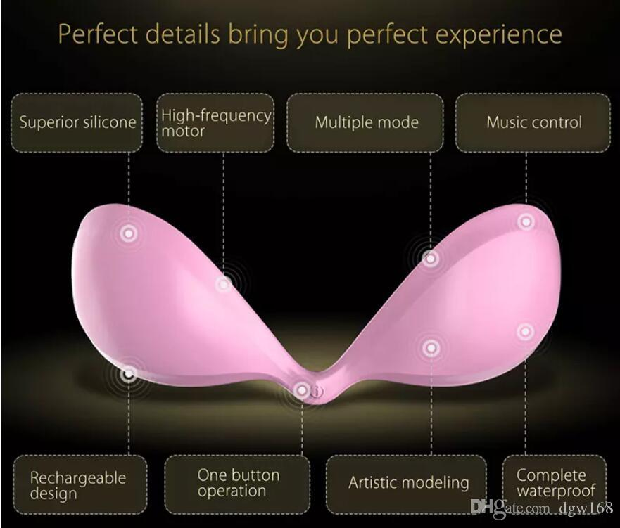 Nipple Vibrator intelligent Silicone Breast pads nipple vibrator breast enlargement Massager nipple Stimulator Sex Toys Bigger Bra Sex Machi