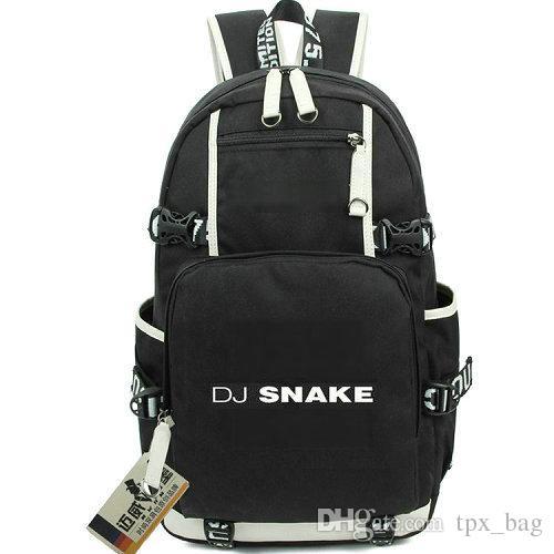 f3237d7c15 DJ snake rucksack Lean On daypack Cool music schoolbag Nice knapsack Laptop  backpack Sport school bag Out door day pack