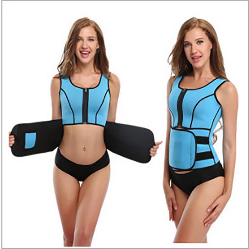 02e0cf4719 2019 Hot Body Shaper Women Slimming Vest Thermo Neoprene Waist Trainer  Neoprene Sauna Vest Adjustable Waist Corsets Girdle Body Shaper KKA2738  From ...