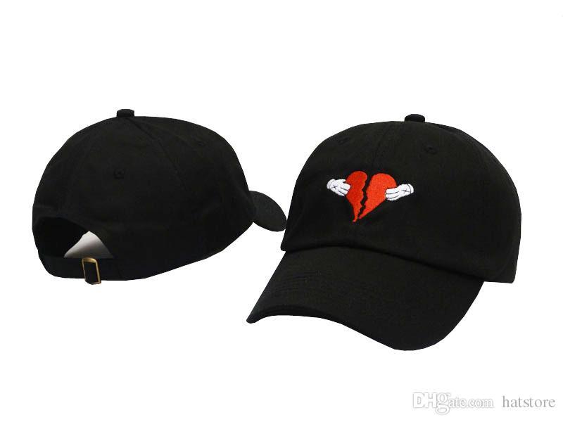 0b83fcdf Kanye west Heart break album Black Golf Curved Visor hats Vintage Snapback  cap Men's Sport last hat high quality Baseball Adjustable Caps