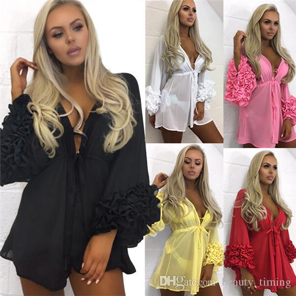 2018 Swimwear cover ups Plus Size Women Hollow out Solid Bathing Suit Sexy swimsuit Beach Wear Bikinis set