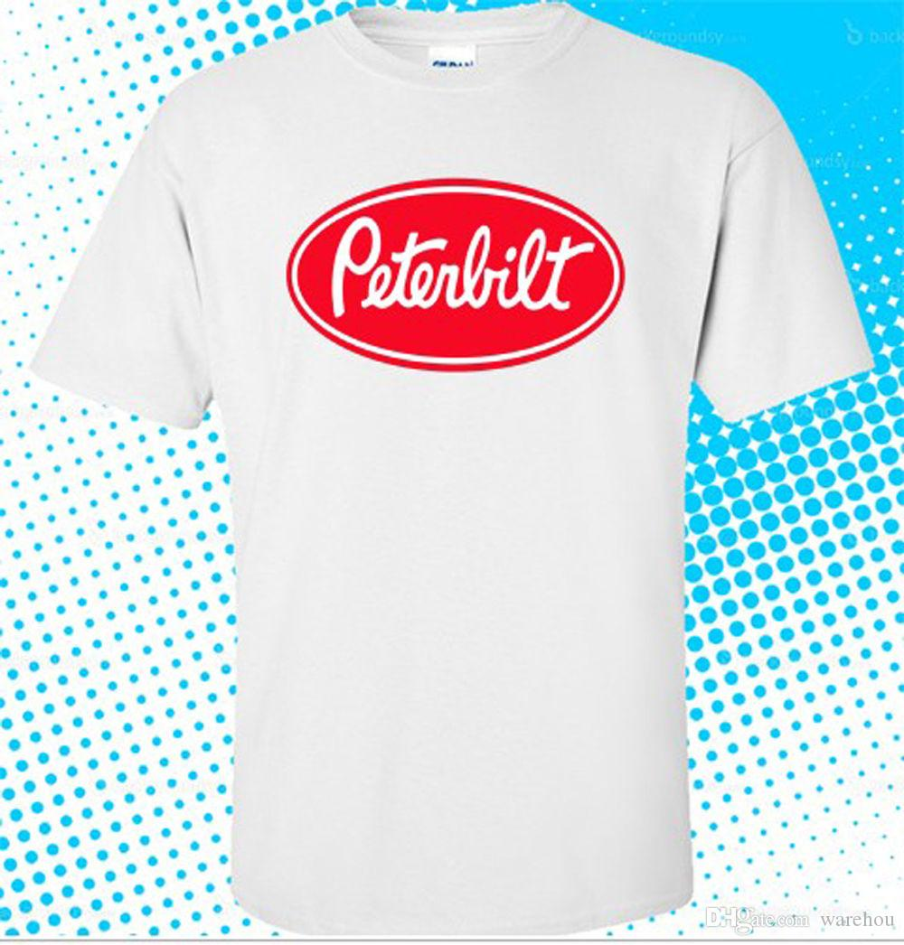 2fe63bb18 New Fashion Style Design T Shirt New Peterbilt Truck Trucker Logo Men'S White  T Shirt Size S To 3XL New Brand Casual Clothing Tee Shirt A Day Shop T Shirt  ...