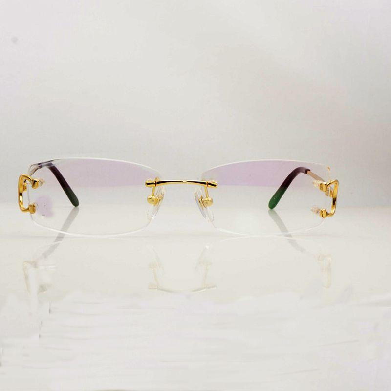 391149bf00 Compre Gafas Ópticas De Metal Con Etiqueta De Etiqueta Gafas De Anteojos  Para Hombres Marcos De Anteojos De Oro Para Hombres Con Prescripción  Completa A ...