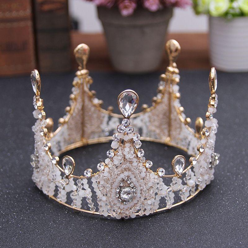 Luxury Bridal Crown Rhinestone Crystals Royal Wedding Queen Crowns Princess Crystal Baroque Birthday Party Tiaras Sweet 16