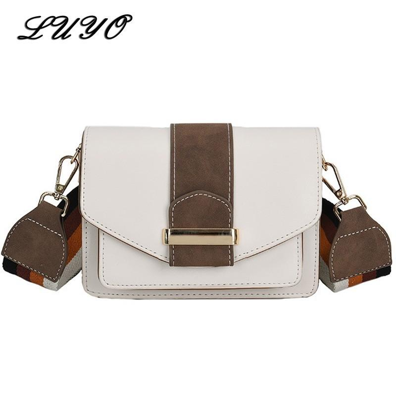 c4a3b76589 2018 New Width Straps Leather Small Girl Messenger Bag Flap Famous Brand  Luxury Handbags Women Crossbody Bags For Designer Cheap Wholesale Bags Over  The ...