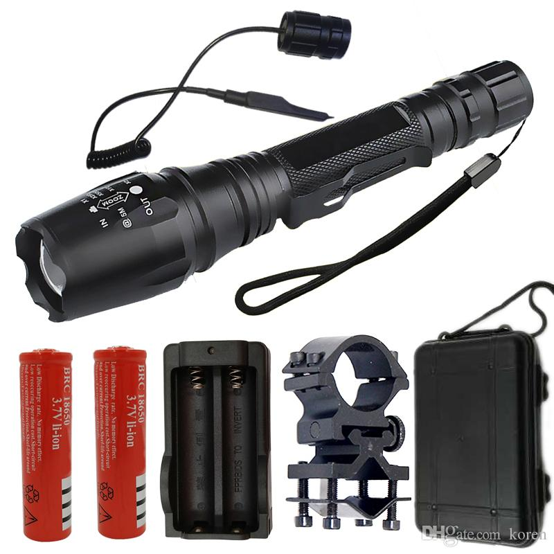 Lights & Lighting 6led Super Bright Long Range Flashlight Hunting Torch Flashlight 18650 Rechargeable Xml T6 Self Defense Flash Light Lampe Torche Led Lighting