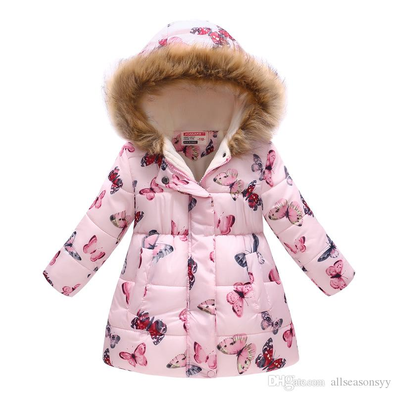 141d3a4ec982 Winter Jackets For Girls Coats Cotton Hooded Baby Girl Jacket Coat ...