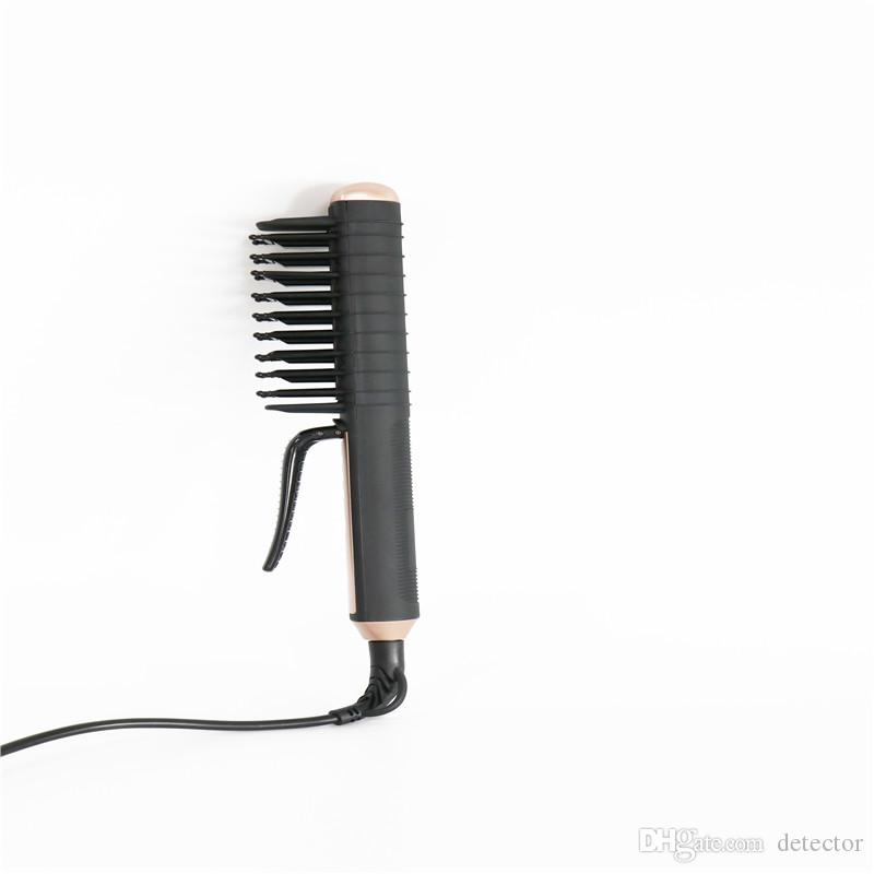 New Brush Hair Straightener Pettine Ferri con Display LCD 100-240V Pettine Capelli Elettrico Straightening Brush Free DHl / Fedex