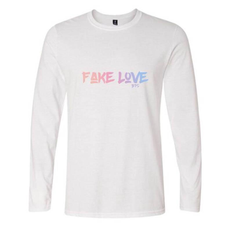 132c9a2725a6 FAKE LOVE Women   Men S Bts Bangtan Boys Baseball Casual Long Sleeve T Shirt  Top Albums Bangtan Boys Fans Hip Hop Cotton T Shirt Humorous Tee Shirts  Design ...