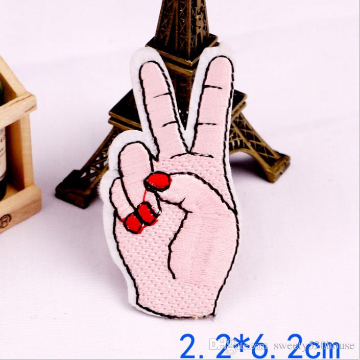 8picLips Girl Gang Hand Iron On Patches Embroidery Patch Badge Applique Clothes Clothing Sewing Supplies Decorative Cartoon