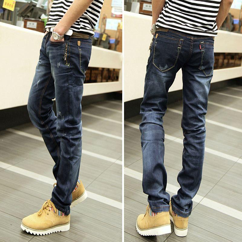 cf6905f8beb 2019 Ripped Jeans Men Light Summer Korean Version Of Straight Leg Trousers  For Old Beggar Jeans Long Trousers Men Trend From Basitudoupizi