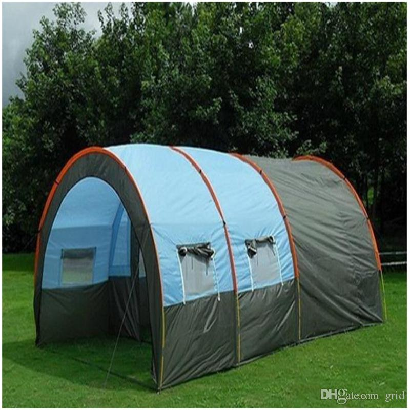Outdoor 5 8 Persons Family C&ing Hiking Party Large Huge Tents 1 Hall 2 Room Waterproof Tunnel Tent Event Tents Beach Tent Tunnel Tents Tents Nz From Grid ... & Outdoor 5 8 Persons Family Camping Hiking Party Large Huge Tents 1 ...