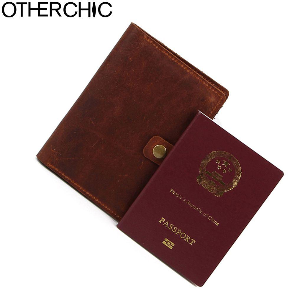 554435802995 OTHERCHIC Vintage Genuine Leather Unisex High Quality Passport Holder  Travel Wallet Holder Boarding Card L-7N07-34