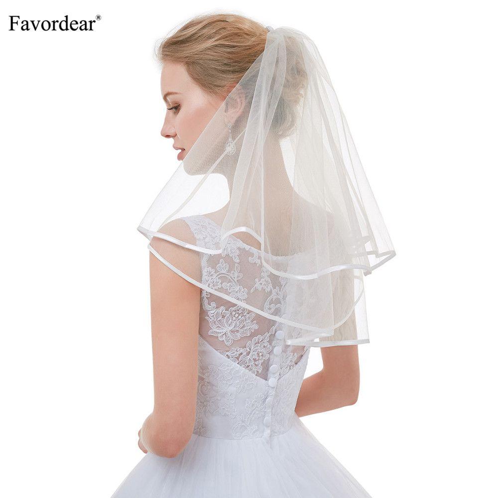Wholesale Top Quality Cute Short Veils For Short Hair Brides Flower