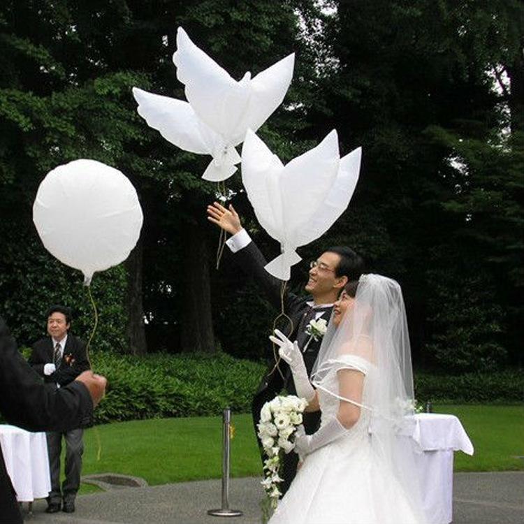 105 * 42 CM Voando Branco Pomba Balões de Casamento Globos Balao Dove Balões Paz Pássaro Bola Pombos Paz Pomba Foil Balões