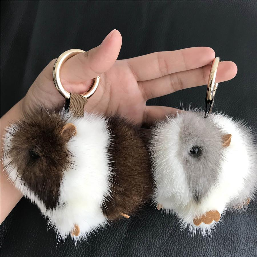 2019 Magicfur Real Mink Fur Cute Cobaya Guinea Pig Mouse Keychain Bag Charm  Kids Doll Key Ring Pendant Keychain Accessories From Dagu003 1bdda3ea4b8a