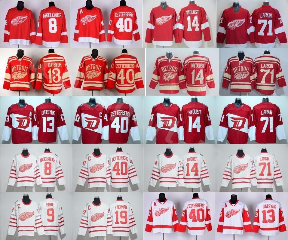 Detroit Red Wings 71 Dylan Larkin Jersey 9 Gordie Howe 8 Justin ... deac1921d