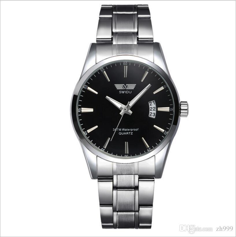 620c2bbea534 Compre Nuevo Reloj Elegante Minimalista. Manecillas De Los Hombres. Reloj  De Acero. Cuarzo. Calendario Luminoso. Relojes Al Por Mayor Y Al Por Menor.