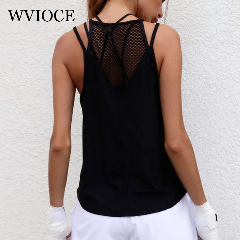 242a0cee9e 2019 WVIOCE Women Sexy Yoga Shirts Tops Fitness Mesh T Shirt Sports Workout  Gym Clothes Sport Vest Running Female Quick Dry Tank Top From Wudun, ...