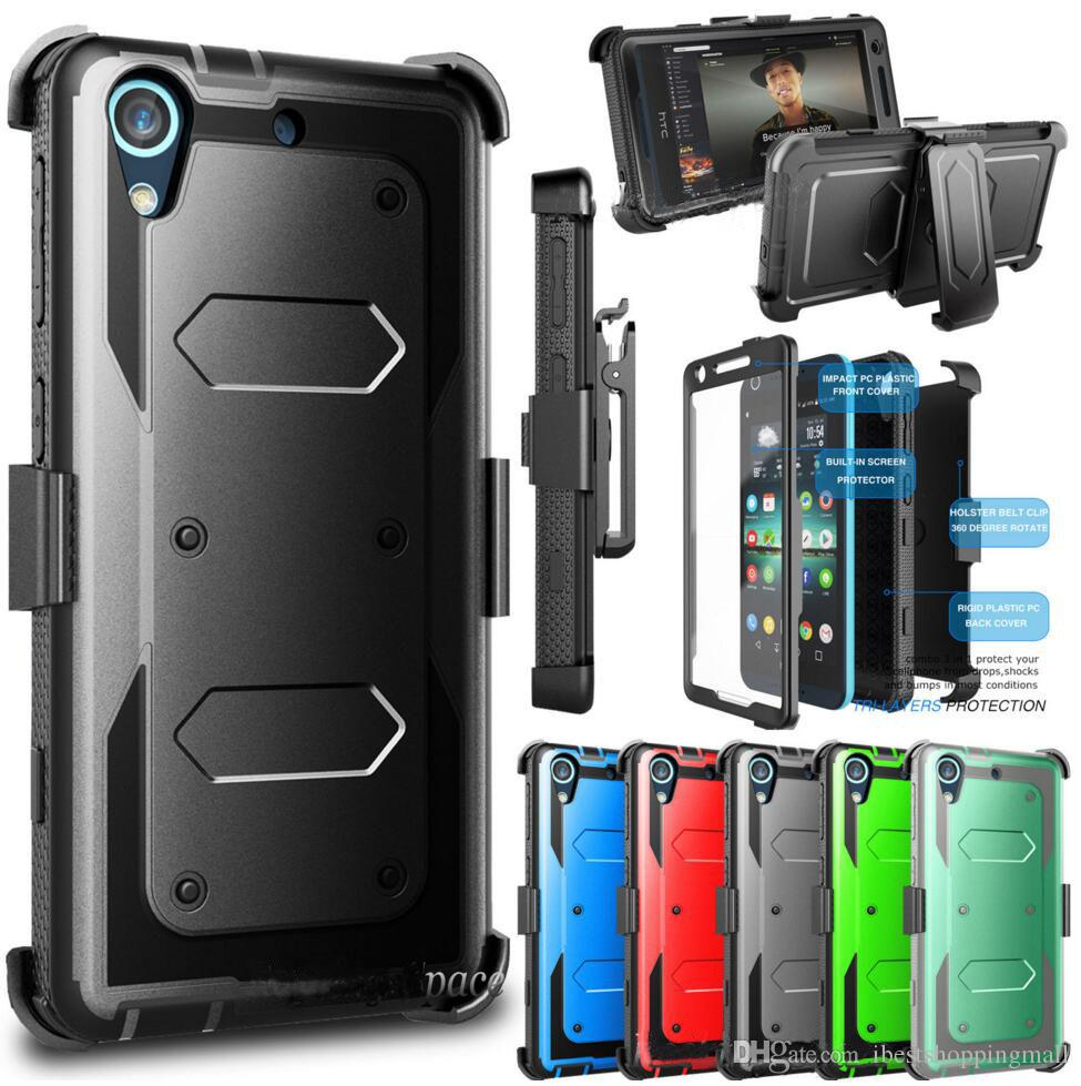 release date: fb958 83e44 Rugged Robot Case Hybrid Defender Cases Cover With Front Screen Clip For  iPhone X 8 7 6S Plus Samsung S8 S9 Plus Note 9 8 LG stylo 3 4