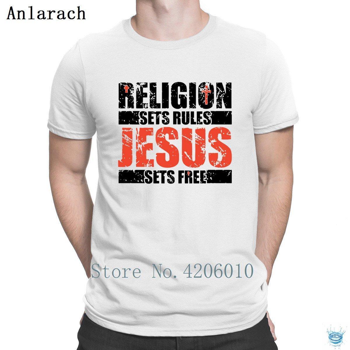Religion Sets Rules Jesus Sets Free T Shirt Crazy Printing Websites