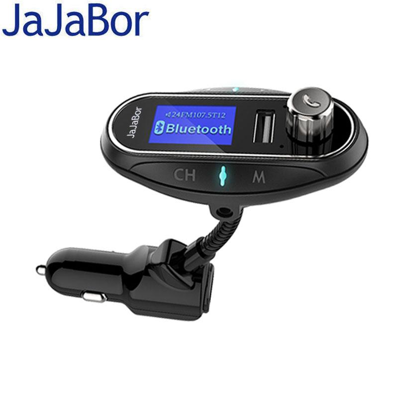 JaJaBor Car AUX MP3 Player Bluetooth Car Kit Hands Free Calling FM Transmitter Support TF Card / U Disk Support Mobile A2DP Play