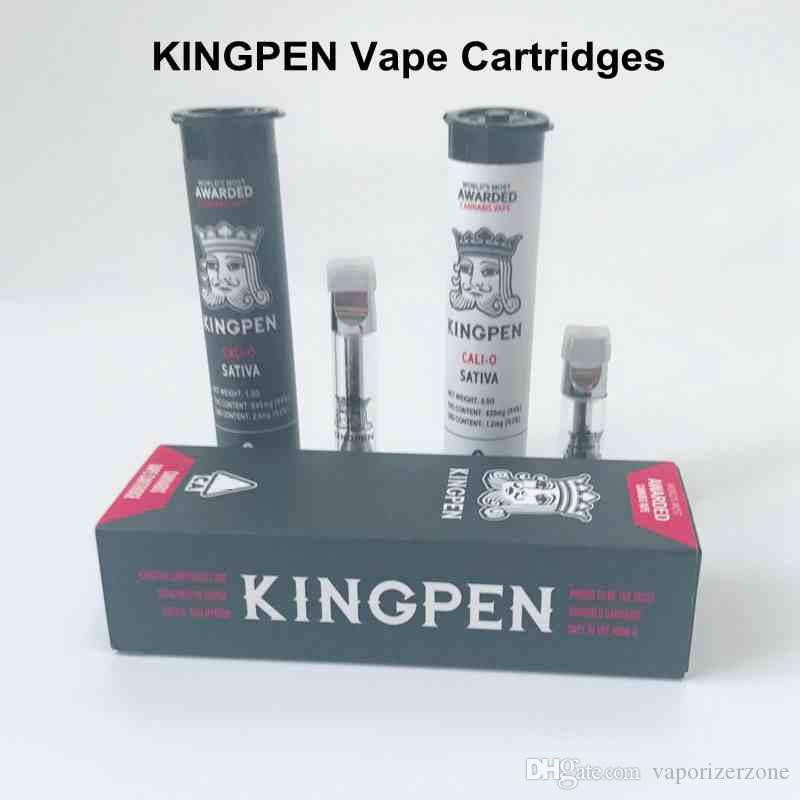 KINGPEN Empty Vape Pen Cartridges Glass Thick Oil Vape Cartridges 0 5ML 1ML  Ceramic Coil Tank For 510 Thread Battery E Cigarette Vaporizer