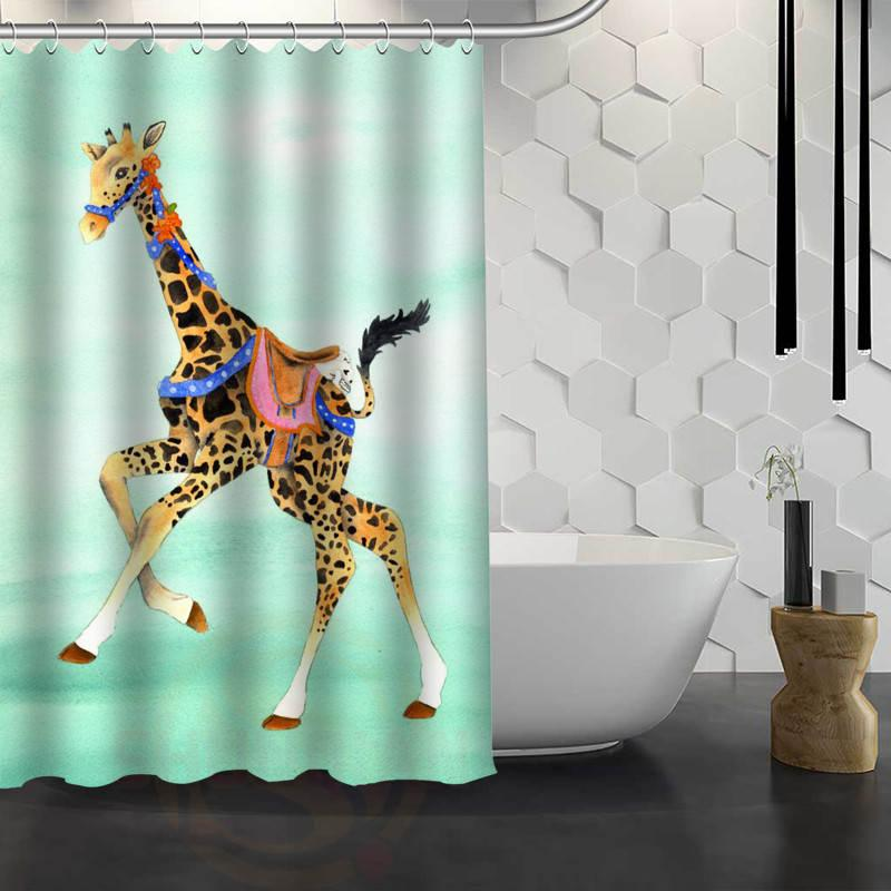 2018 Hot Sale Custom Giraffe Shower Curtain Waterproof Fabric Bath For Bathroom Fy1 17 From Hobarte 4221