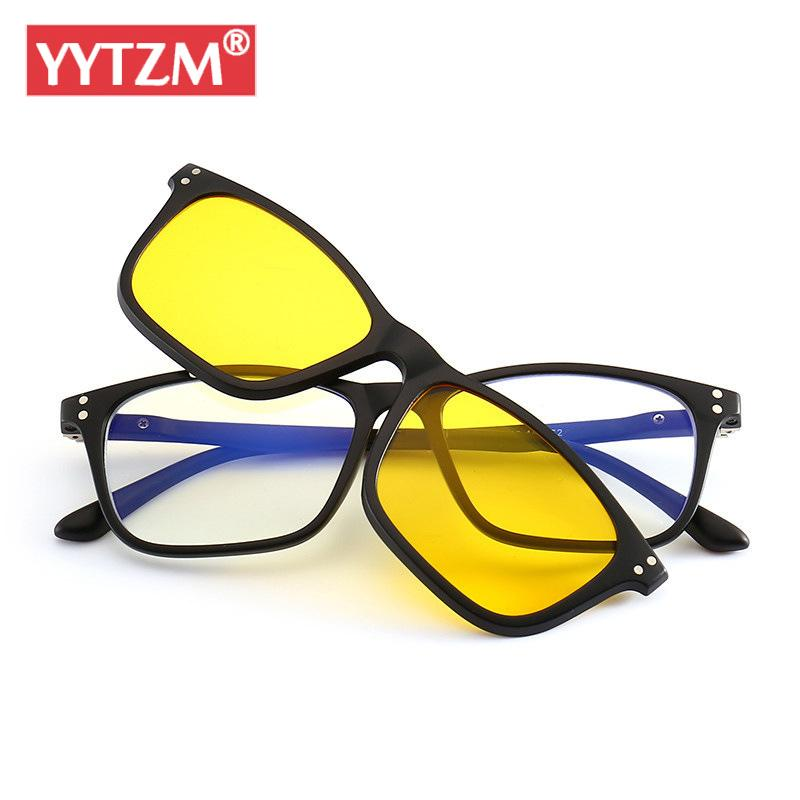 900ec46dbe4 YYTZM Clip-on Sunglasses Women Men Blue Night Vision Polarized Lens ...