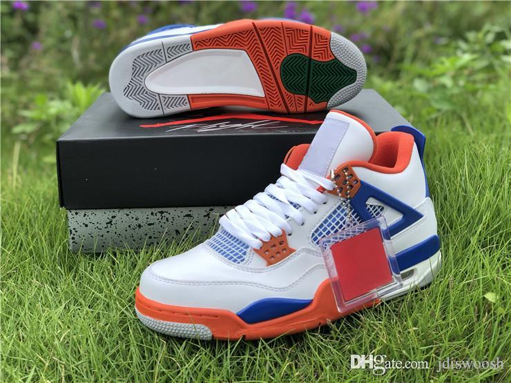 869e6d153f5 2019 2018 Released 4 Travis Scott 4s White Blue Orange Basketball Shoes For  Men Sports Sneakers Authentic Quality 308497 171 Size40 47.5 From  Jdiswoosh, ...